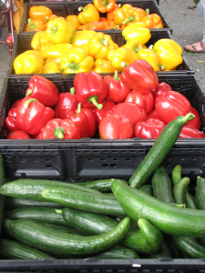 Fresh-Bell-Peppers-and-zucchinis-at-Burnaby-Artisan-Farmers-Market