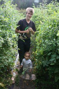 Kids farming at Stein Mountain Farm