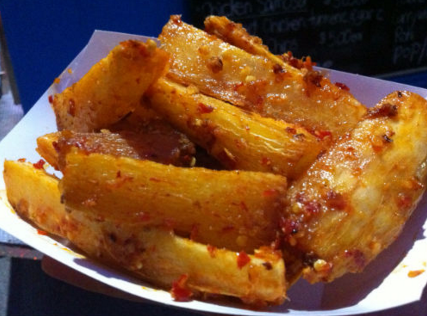 Spicy cassava fries from the Fujian Fusian food truck - Carolyn Ali photo