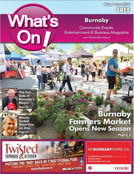 Burnaby Farmers Market Cover Story On Whats Magazine