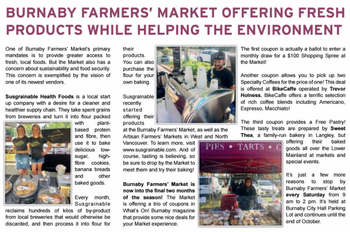 What's On Burnaby Magazine Article September October 2019